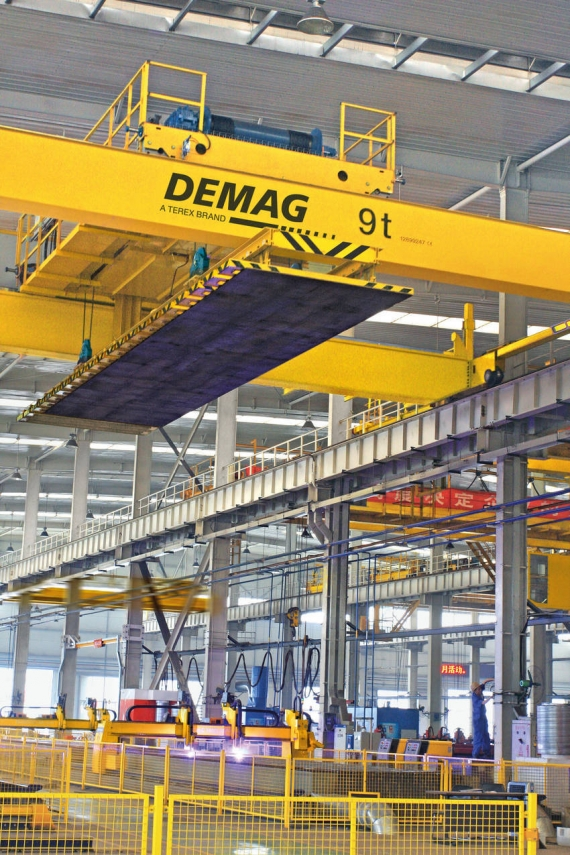 Demag Pilot Project for Efficient Sheet Metal Working